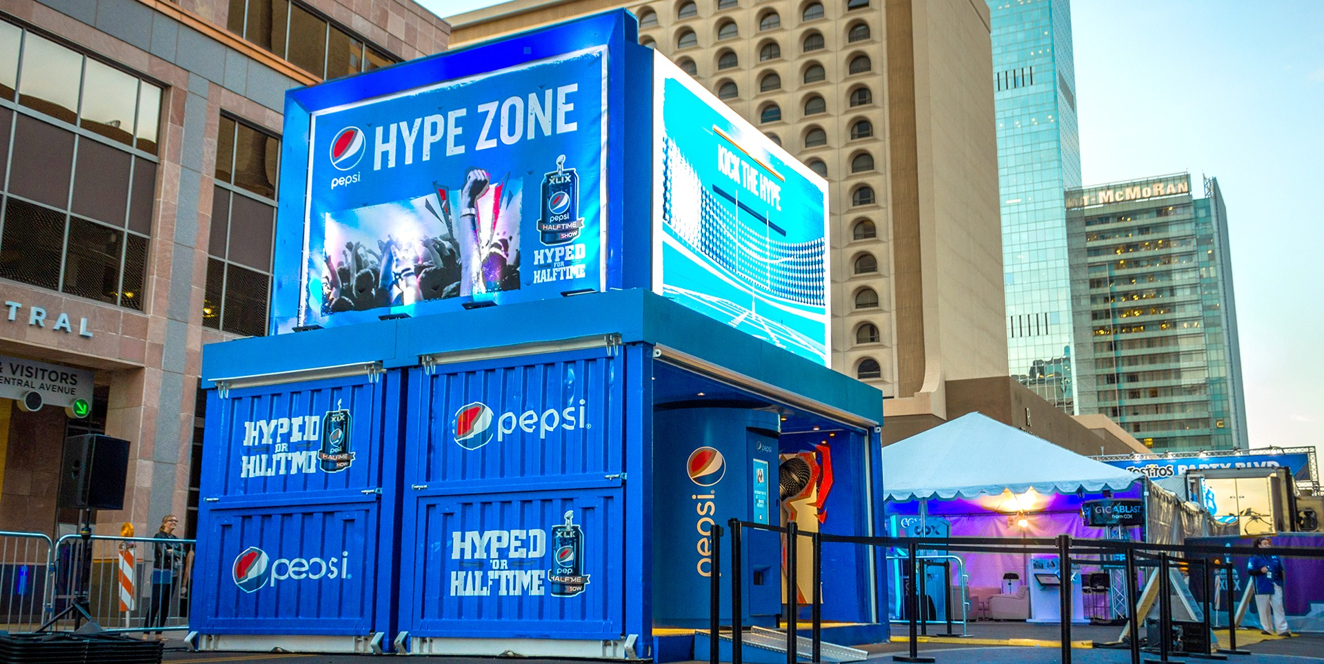 Refurbished container for Pepsi Superbowl | Steel Space Concepts