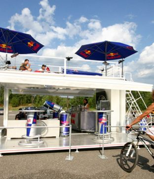 Red Bull Pop up Bar Solution